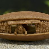 Сувениры и подарки manualidades. Livemaster - hecho a mano Fishermans in a boat olive pit carving. Handmade.