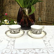 Vintage mugs handmade. Livemaster - original item Wedgwood tea pair ( England). Handmade.