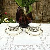 "Кружки винтажные ручной работы. Ярмарка Мастеров - ручная работа Чайная пара ""Wedgwood"" ( Англия). Handmade."