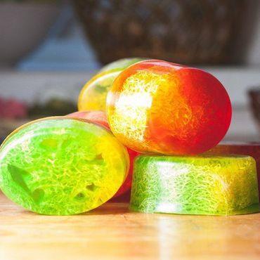 Cosmetics handmade. Livemaster - original item Soap loofah loofah Organic soap. Handmade.