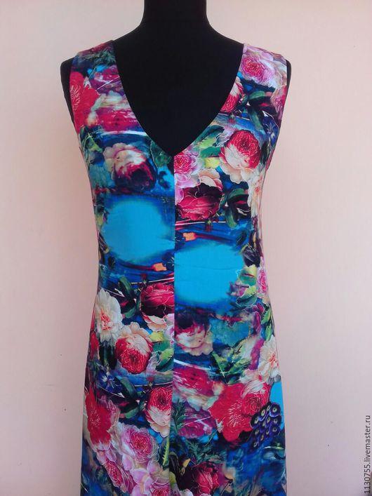 Платья ручной работы. Ярмарка Мастеров - ручная работа. Купить Платье цветы на поляне  из штапеля  р-ры 38-56. Handmade.