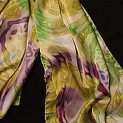 """Аксессуары ручной работы. Ярмарка Мастеров - ручная работа Шелковый шарф """"Весенний"""". Handmade."""