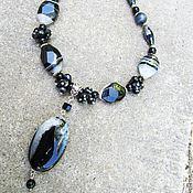 """Украшения handmade. Livemaster - original item Украшение из натуральных камней """" Венецианская ночь"""". Handmade."""