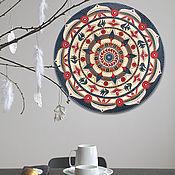 Картины и панно handmade. Livemaster - original item Acrylic painting - mandala on the wall