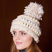 Аксессуары handmade. Livemaster - original item Knitted women hat . Knitted hat with boomboom. Handmade.