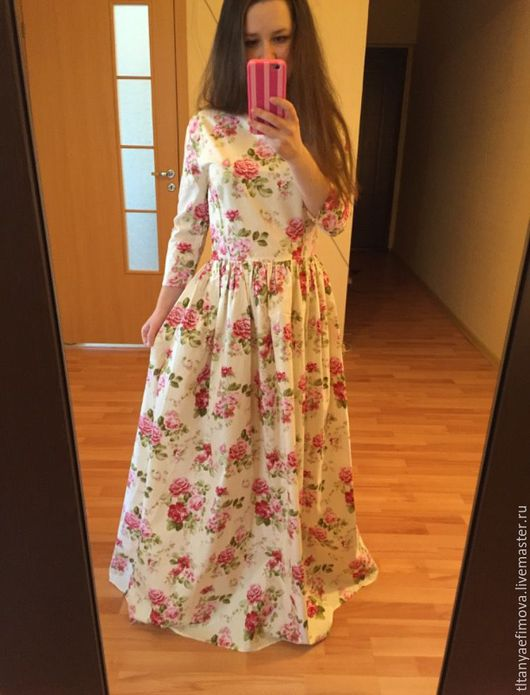 Платья ручной работы. Ярмарка Мастеров - ручная работа. Купить Платье в пол Солнечный день на весну на лето. Handmade. Комбинированный