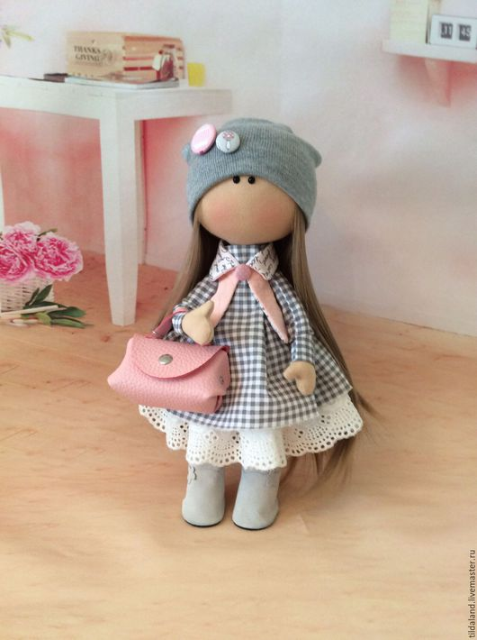 Куклы тыквоголовки ручной работы. Ярмарка Мастеров - ручная работа. Купить Лорна. Handmade. Комбинированный, серый, синтепух