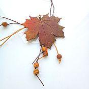 Украшения handmade. Livemaster - original item Pendant maple autumn. Handmade.