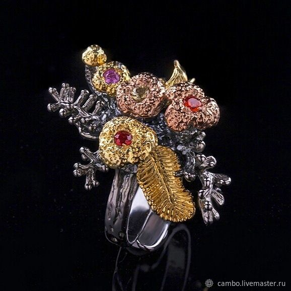 Ring with colored sapphires, Rings, Moscow,  Фото №1