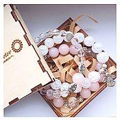Украшения handmade. Livemaster - original item Set of bracelets made of natural rose quartz, sugar quartz and. Handmade.