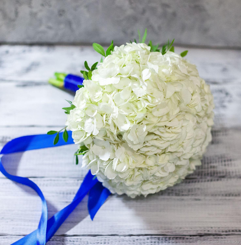 появилась свадебные букеты из гортензии советуем выбирать