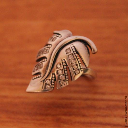 Кольца ручной работы. Ярмарка Мастеров - ручная работа. Купить Серебряное кольцо Листик, серебро 925. Handmade. Серебряный