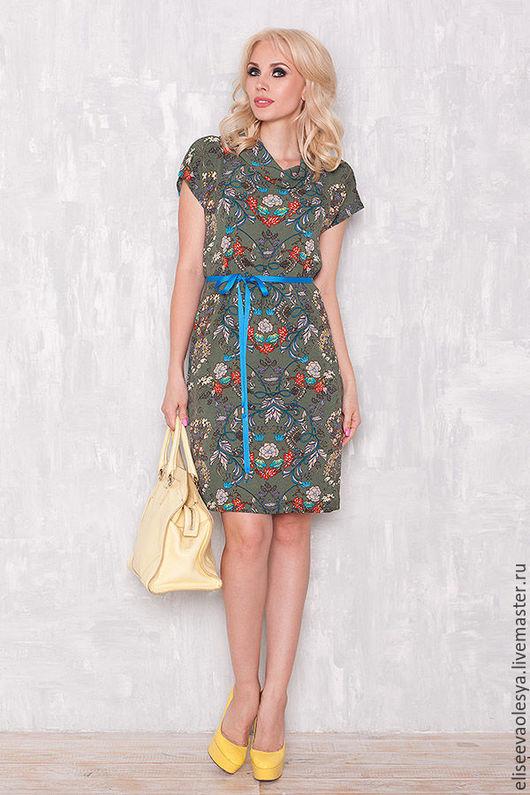 Платья ручной работы. Ярмарка Мастеров - ручная работа. Купить Легкое платье с крэш-эффектом  26014. Handmade. Платье нарядное