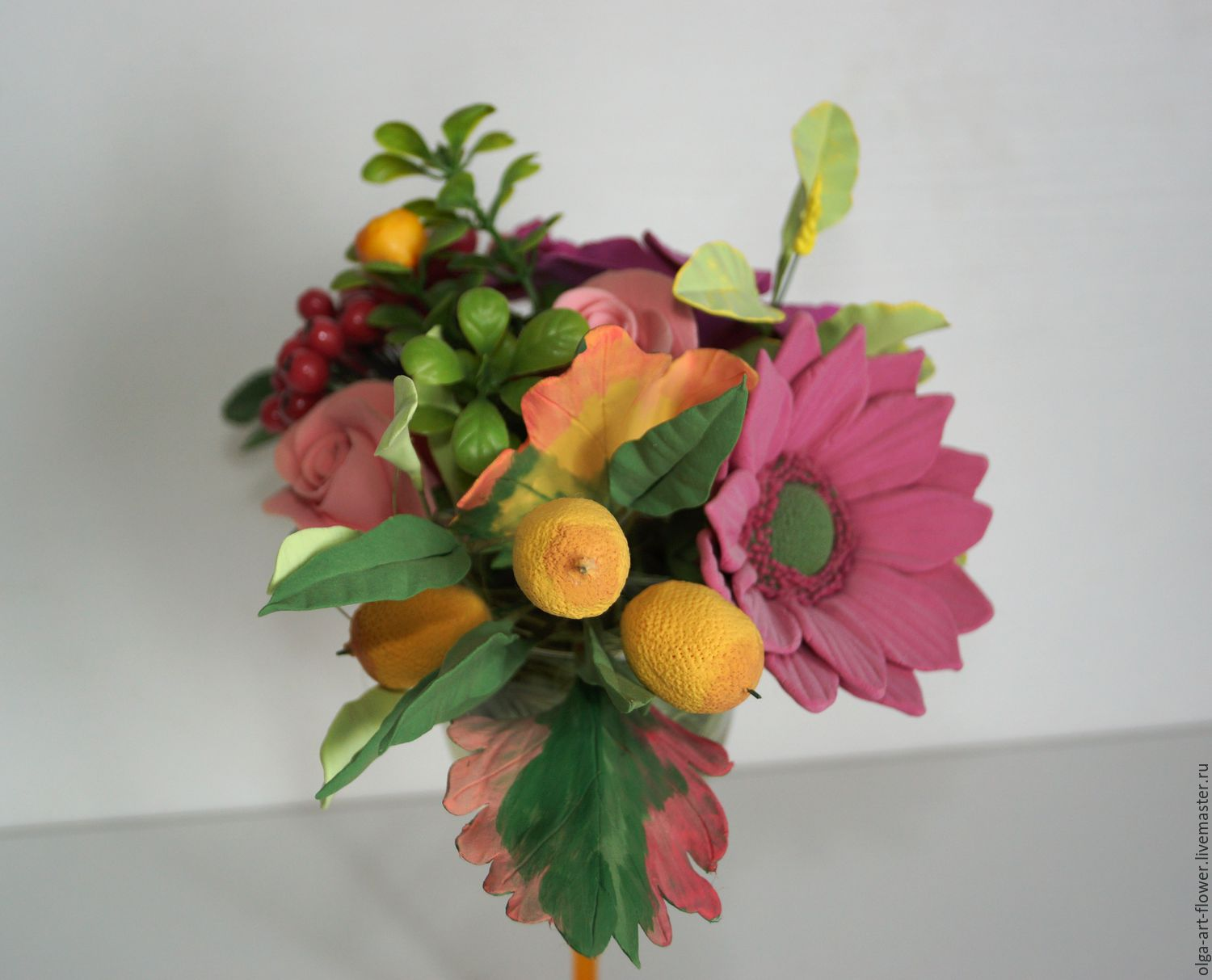 Bouquet Of Autumn. Flowers from polymer clay, Composition, Moscow,  Фото №1