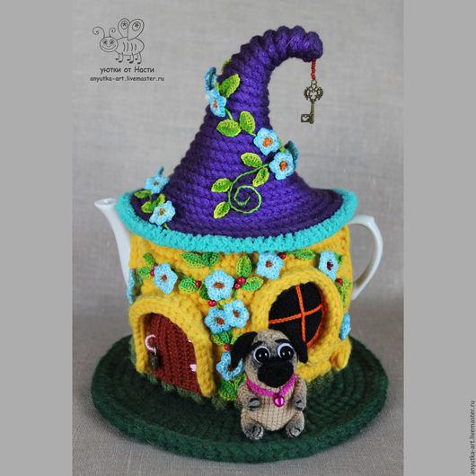 """Кухня ручной работы. Ярмарка Мастеров - ручная работа. Купить Грелка на чайник """"Мопсодом"""" (с чайником). Handmade. Грелка на чайник"""