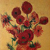 """Картины и панно ручной работы. Ярмарка Мастеров - ручная работа """"Подсолнухи""""- копия. Handmade."""