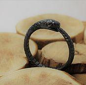 Украшения handmade. Livemaster - original item Dark Ouroboros ring unisex. Handmade.