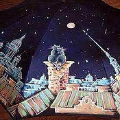 Аксессуары ручной работы. Ярмарка Мастеров - ручная работа Зонт с росписью- Коты на трубе. Handmade.
