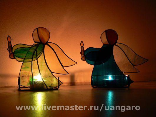 """Подсвечники """"Ангелочки"""", возможны различные цветовые решения"""
