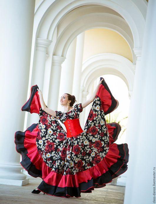 """Танцевальные костюмы ручной работы. Ярмарка Мастеров - ручная работа. Купить Цыганская юбка """"Daisy Dream"""". Handmade. Комбинированный, цыганка"""