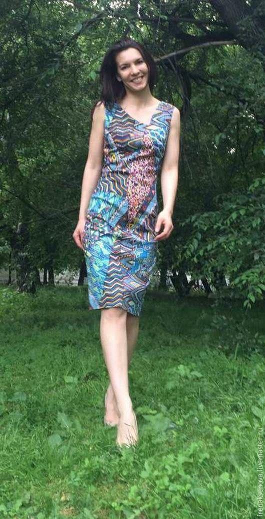 """Платья ручной работы. Ярмарка Мастеров - ручная работа. Купить Платье """"Геометрия"""". Handmade. Орнамент, оригинальное платье, платье футляр"""