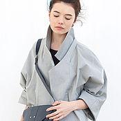 Одежда ручной работы. Ярмарка Мастеров - ручная работа Пальто демисезонное / серое пальто / женская верхняя одежда. Handmade.
