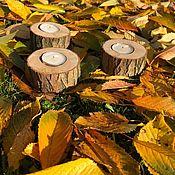 Для дома и интерьера handmade. Livemaster - original item Wooden candlesticks, 3 pieces. Handmade.