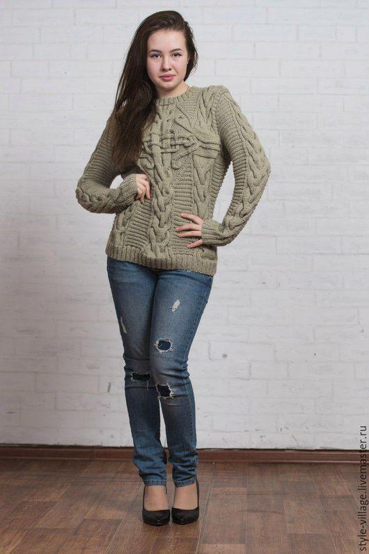 """Кофты и свитера ручной работы. Ярмарка Мастеров - ручная работа. Купить свитер """"Колдунья"""". Handmade. Табачный, свитер вязаный"""