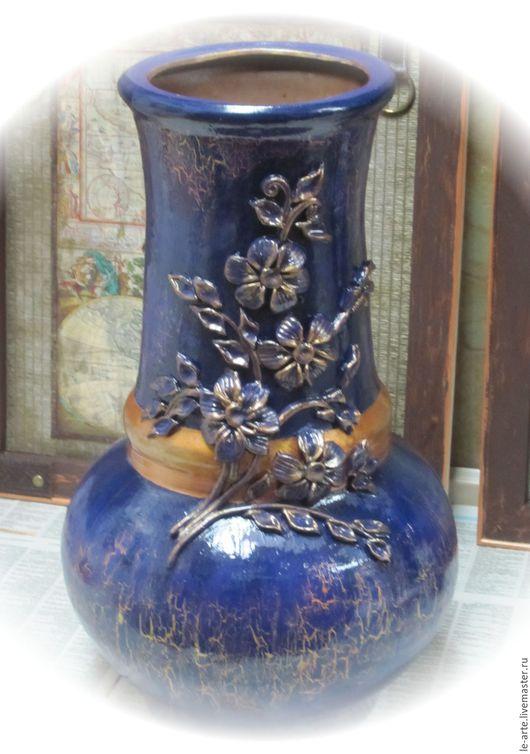 Вазы ручной работы. Ярмарка Мастеров - ручная работа. Купить Ваза керамика напольная. Handmade. Комбинированный, Керамика, под цветы
