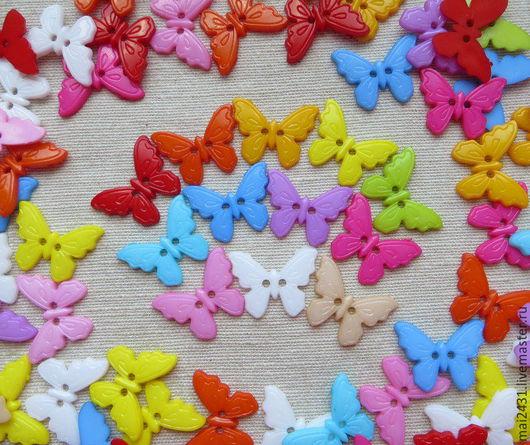 Шитье ручной работы. Ярмарка Мастеров - ручная работа. Купить Пуговицы бабочки 23х17мм. Handmade. Купить пуговицы, пуговицы для декора