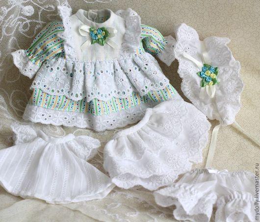 Одежда для кукол ручной работы. Ярмарка Мастеров - ручная работа. Купить Гардероб для куколки- малышки (23 см). Handmade. Белый