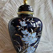 Винтаж handmade. Livemaster - original item Large Cobalt VASE PORCELAIN Germany Mitterteich 36 cm. Handmade.