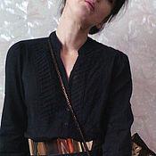 Одежда ручной работы. Ярмарка Мастеров - ручная работа блузка черная батистовая Noir. Handmade.