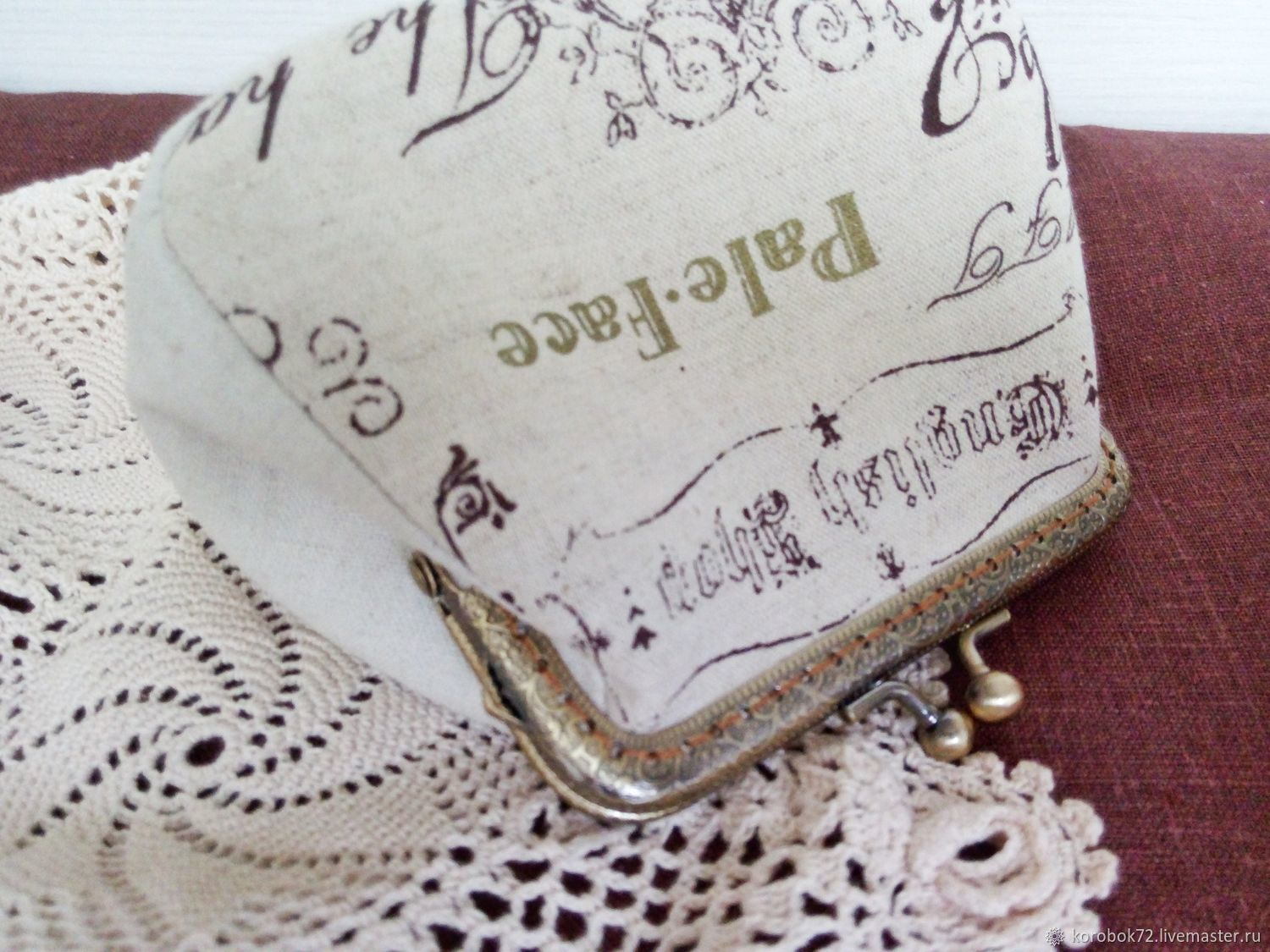 Linen cosmetic bag with Clasp, Beauticians, St. Petersburg, Фото №1