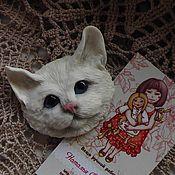Украшения ручной работы. Ярмарка Мастеров - ручная работа Брошка-кошка. Handmade.