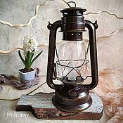Для дома и интерьера handmade. Livemaster - original item Kerosene lamp electric table brown lamp retro. Handmade.