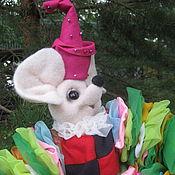 Куклы и игрушки ручной работы. Ярмарка Мастеров - ручная работа Мышонок клоун.Сухое валяние.Ручная работа, мышонок в подарок. Handmade.