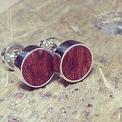 Украшения handmade. Livemaster - original item Hi from Australia. Silver earrings with wood. Handmade.