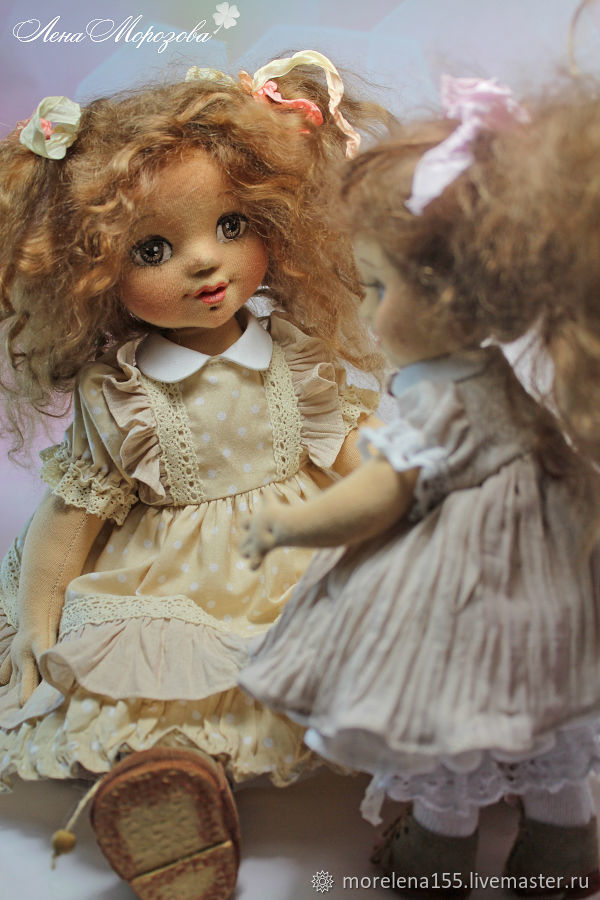 Lily and Lila. Author's textile doll, Dolls, St. Petersburg,  Фото №1
