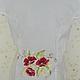 Блузки ручной работы. Заказать вышитая шелком блузка. валентина (ketmir). Ярмарка Мастеров. Маки