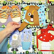Куклы и игрушки ручной работы. Ярмарка Мастеров - ручная работа Мега-Азбука, массажный коврик-конструктор и буквы. Handmade.