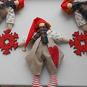 Куклы и игрушки ручной работы. Ярмарка Мастеров - ручная работа Гирлянда из новогодних гномов. Handmade.
