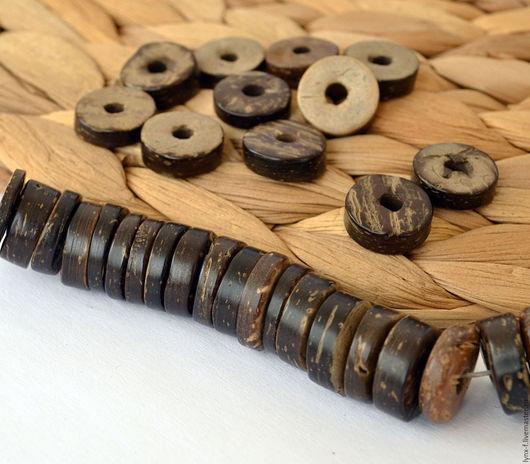 Для украшений ручной работы. Ярмарка Мастеров - ручная работа. Купить 20шт. Диски кокосовые 12мм. Handmade. Диски, бусины