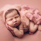Одежда ручной работы. Ярмарка Мастеров - ручная работа Шапочка мишки для новорожденных, шапочка с ушками. Handmade.