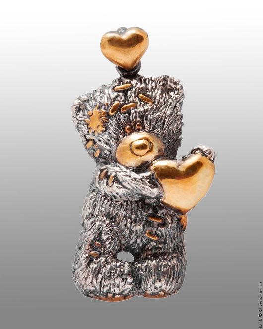 """Кулоны, подвески ручной работы. Ярмарка Мастеров - ручная работа. Купить Кулон """"Мишка Тедди"""". Handmade. Мишка, кулон серебряный"""
