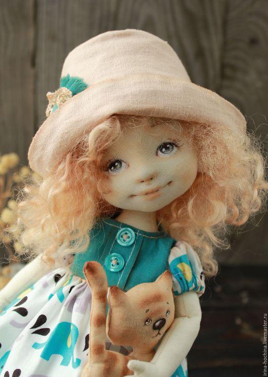 Коллекционные куклы ручной работы. Ярмарка Мастеров - ручная работа. Купить Текстильная авторская кукла Лиза. Handmade. Морская волна