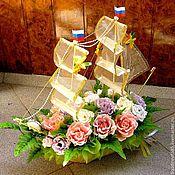 Цветы и флористика ручной работы. Ярмарка Мастеров - ручная работа Сладкий кораблик. Handmade.