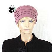 Аксессуары handmade. Livemaster - original item Stylish women`s cap made of Italian knitted fabric.. Handmade.