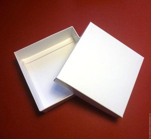 """Упаковка ручной работы. Ярмарка Мастеров - ручная работа. Купить Коробочка 10х10х3 """"крышка-дно"""" белая. Handmade. Коробочка"""