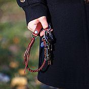 Брелок ручной работы. Ярмарка Мастеров - ручная работа Ключница плетеная из натуральной кожи. Handmade.